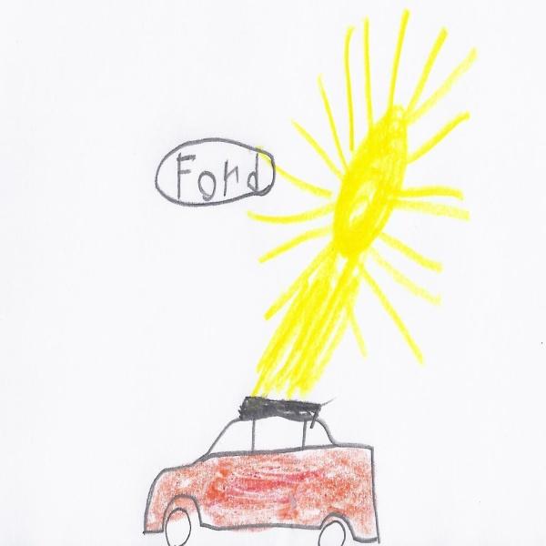 Bild von Solarauto mit Ersatztank